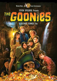 "They call themselves ""The Goonies"". The secret caves. The old lighthouse. The lost map. The treacherous traps. The hidden treasure. And Sloth... Join the adventure. (1985)"