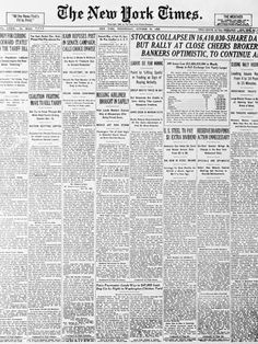 Photographic Print: 1929 Cover of New York times Newspaper : Newspaper Wallpaper, Newspaper Background, Newspaper Collage, Times Newspaper, Newspaper Cover, Vintage Newspaper, Newspaper Printing, Editing Background, Collage Sheet