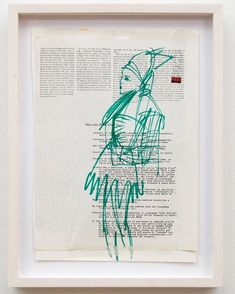 Bridget Donahue (gallery)はInstagramを利用しています:「#SusanCianciolo, Green Profile, marker and collage on paper, 2017, generously donated to Light Industry's upcoming tenth anniversary…」