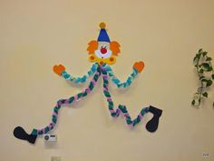 Circus Activities, Craft Activities For Kids, Crafts For Kids, Clown Crafts, Carnival Crafts, Decor Crafts, Diy And Crafts, Arts And Crafts, Paper Crafts