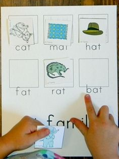 Word family printables. I'll make these into file folder games with velcro on the pictures.