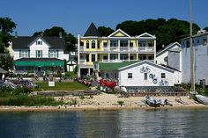 Mackinac Island, Michigan.  We stayed in the yellow hotel...main street inn.