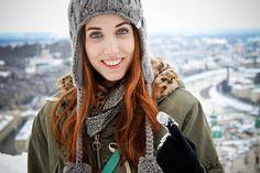 Maggie in Salzburg Salzburg, Snowman, Finger, Winter Hats, Model, Fashion, Moda, Fashion Styles