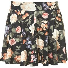Floral Print Skater Skirt ($50) ❤ liked on Polyvore featuring skirts, bottoms, saias, faldas, full skirts, circle skirt, floral circle skirt, floral printed skirt, flared skirt and skater skirt