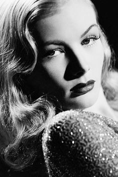 1940's- Veronica Lake's hair style was widely copied by girls throughout the 40's.
