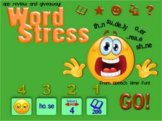 Word Stress- App Review from Speech Time Fun. great app that works on reading skills. Pinned by  SOS Inc. Resources.  Follow all our boards at http://pinterest.com/sostherapy  for therapy   resources.