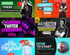 Youtube Thumbnail Template, Thumbnail Design, Graphic Design Templates, Working On Myself, New Work, The Creator, Content, Ads, Profile