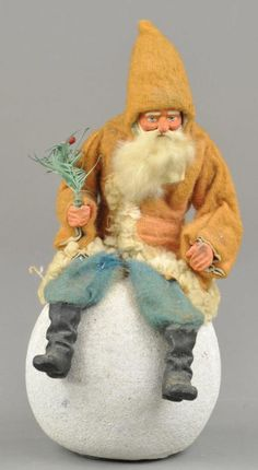 SANTA ON SNOWBALL CANDY CONTAINER