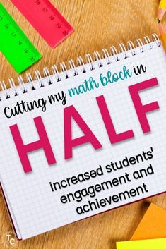 Change your math block by splitting it in half to increase achievement. This post walks you through how I schedule my math block incorporating number sense, daily word problems, technology, and small group instruction and increased students' achievement.  Your centers activities can be changed out much less, saving you time lesson planning each week.  This elementary math block format is perfect for second, third, and fourth grades.  #1stgrade #2ndgrade #3rdgrade #4thgrade