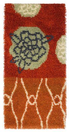 Sahiba by Nina Nisonen, Finnish wool rug. Rya Rug, Marimekko, Textiles, Kids Rugs, Contemporary, Wool Rugs, Fabric, Wall, Designers