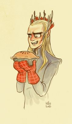 Thranduil: The Pie Maker<<<<<------ when I saw Lee pace I was like, 'Omfg the pie maker?.'