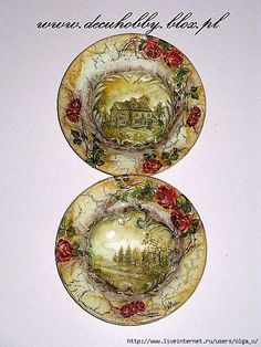 Wine Bottle Crafts, Decoupage, Decorative Plates, Shabby Chic, Anna, Home Decor, Bottles, Dishes, Artists