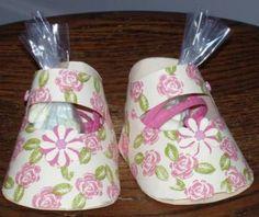 recuerdos boda manuales | zapatitos dulceros para baby shower . Bonitos y sencillo recuerdos ...