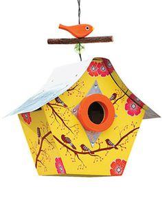 retro chic bird house
