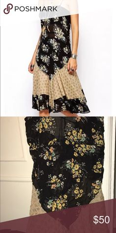 Free People Floral Slip Dress NWOT! So beautiful!! :) Priced high for offers! Free People Dresses Midi