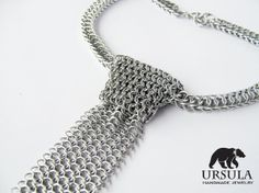 Chainmail Skinny Necktie by UrsulaChainmaille on Etsy, $73.00