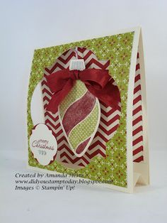 It's called a tent card-the ornament hangs between the two layers