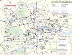 Best London Map Images On Pinterest London Map London England - Map of paris and tourist attractions