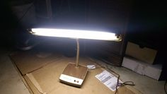 Mark's Deluxe,Vtg.Desk Lamp,Flourescent,Works,Decor,Metal,Rare,good cond.Sweet!! Desk Lamp, Table Lamp, Lamps For Sale, It Works, Metal, Sweet, Collection, Home Decor, Candy
