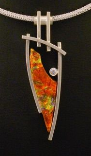 Vetro Caldo Jewelry Gallery glass and metal