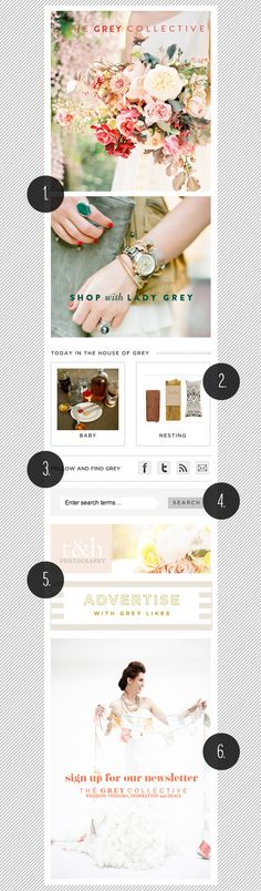 We're Loving Grey Likes Weddings' Beautiful Sidebar!