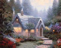 thomas kinkade honeymoon cottage painting - Yahoo Image Search Results
