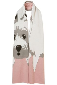 Topshop Cute Dog Scarf in Pink