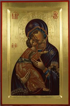 Theotokos of Vladimir - Premium Quality Hand-Painted Icon. Available for Sale!