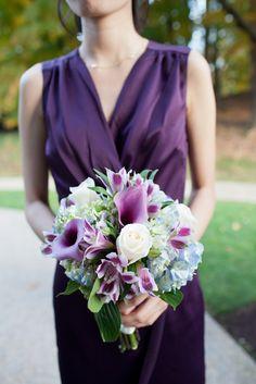 a bouquet loaded with pretty purples Photography: Studio Nouveau - www.thestudionouveau.com  Read More: http://www.stylemepretty.com/2014/05/23/elegant-massachusetts-wedding-at-lyman-estate/
