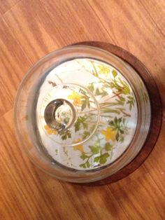 1970s Wildflower Goodwood Cheese Dome Platter
