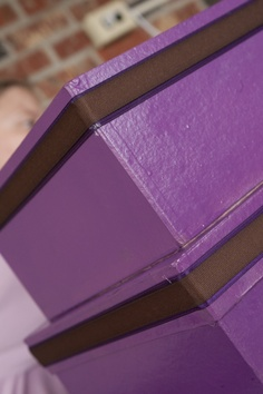 Starting to look really good. Diy Card Box, Blush, Diy Projects, Purple, Brown, Cards, Rouge, Brown Colors, Handyman Projects