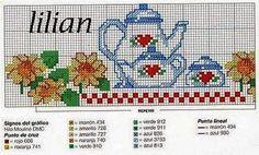 ENCANTOS EM PONTO CRUZ: Cozinha Cross Stitch Patterns, Quilt Patterns, Basic Embroidery Stitches, Cross Stitch Kitchen, Coffee Pictures, Hobbies And Crafts, Cross Stitching, Needlepoint, Tapestry