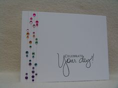 WT423 Celebrate - cool way to use up some of those odd rhinestones in the bling stash