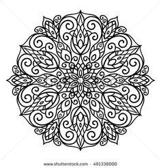 Mandala. Ethnic decorative elements. Hand drawn background. Islam, Arabic, Indian, ottoman motifs, adult coloring book, doodle style, oriental style, mandala, star, tattoo