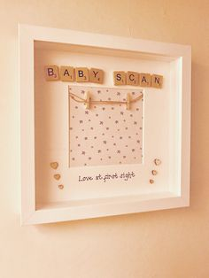 Baby Scan Scrabble Frame
