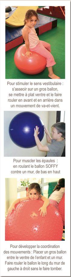 Les gros ballons extrêmement solides sont des équipements de base pour le travail moteur dynamique chez les enfants et les adultes.