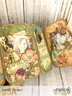 Mini Trunk Book Album, Once Upon a Springtime, by Sandy Trefger, Product by Graphic 45 Photo 10