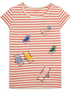 T-shirt manches courtes à rayures