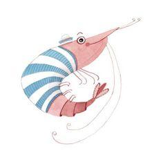 Percy the Prawn by Amy Adele schrimp Crab Art, Fish Art, Crab Illustration, Vides, Dibujos Cute, Decoupage Vintage, Prawn, Shrimp, Cute Animal Drawings