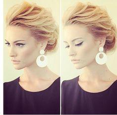 Einfacher Hochsteckfrisur für mittelstarkes Haar