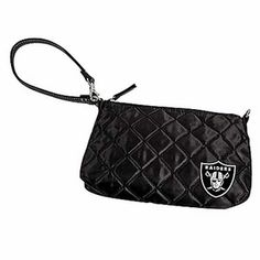 Oakland Raiders Quilted Wristlet - great to take to the game