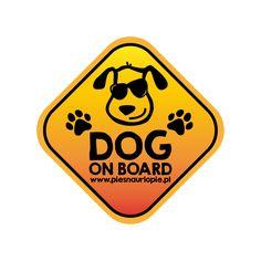 "Naklejka na samochód ""Dog on board"""