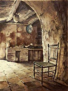 "Jose Luis Lopez Perez ""Kubi"" Art World, Gouache, Watercolor Paintings, Pastel, Sketches, Crafts, Interiors, Water Colors, Inspiration"