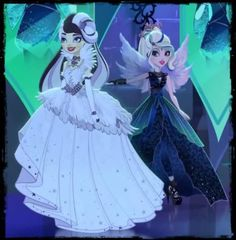 Duchess Swan & Faybelle Thorn wear these royally awesome dresses. Faybelle actually looks nice with her hair up!