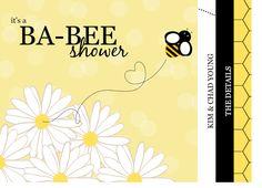 Baby shower Bee invitation