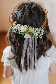 Twig Flower Crown With Roses | Blue Rose Photography https://www.theknot.com/marketplace/blue-rose-photography-seattle-wa-607957 | Althauser Design