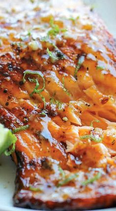 Honey Glazed Salmon - just skip the flour or use something like arrowroot instead.