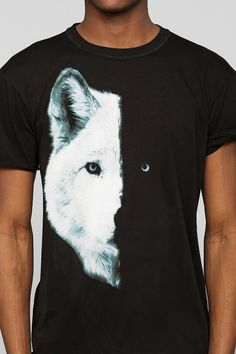 faunling's save of Midnight Wolf Tee - Urban Outfitters on Wanelo