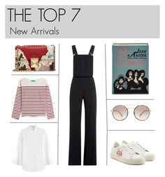 """""""THE TOP 7"""" by stylebop ❤ liked on Polyvore featuring See by Chloé, Valentino, M.i.h Jeans, Anya Hindmarch, Olympia Le-Tan and Prada"""