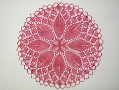 Ravelry: knitted rose medallion pattern by Thérèse de Dillmont Vintage Knitting, Lace Knitting, Knitting Stitches, Doily Patterns, Knitting Patterns, Crochet Patterns, Yarn Projects, Knitting Projects, Knitted Blankets